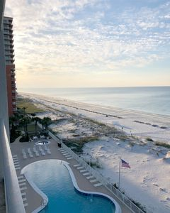 Photo for Beachfront Condo with Large Balcony/Conveniently Located