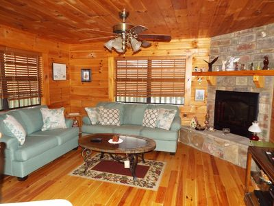 Photo for Coker Creek Mountain Log Cabin TN-Get away from it all with a great view
