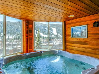 Photo for Lovely riverfront home w/ mountain views, private sauna, & hot tub - near lifts!
