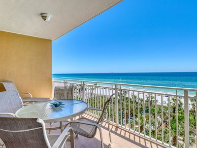 Photo for Beautiful beach view condo w/ shared hot tub, pool, and fitness center!