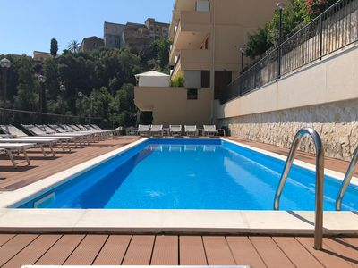 """Photo for Holiday Apartment """"Ilenia"""" - Taormina - apartment with terrace and communal swimming pool"""