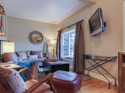 Photo for Cozy house in downtown, nearby skiing and beach access!