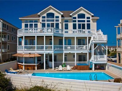 Photo for Unobstructed Oceanfront Views- Elevator, Pool, Hot Tub, Theater Rm, Dog-Friendly