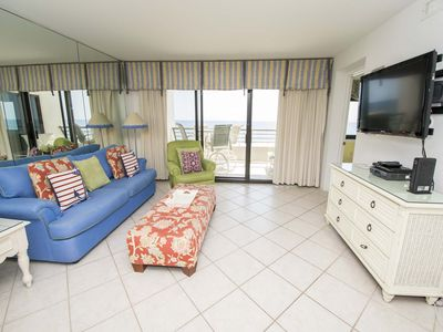 Photo for Cute Condo with Private Balcony Overlooking the Beach ~ Community Pool and Sauna