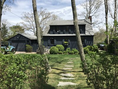 Photo for Waterfront Sag Harbor Cottage w/ Deep Water Dock