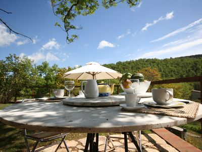 Photo for Hut with a view in the heart of the Chianti area with swimming pool and Jacuzzzi
