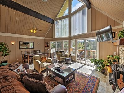 Up to 8 travelers will enjoy the scenic forest views from this home's viewing deck.