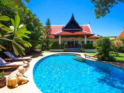 Photo for Luxury 3 bedroom villa with tropical garden private pool - 1200m2 space