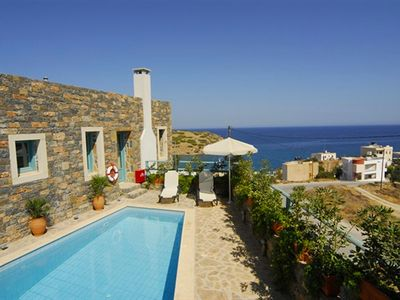 Photo for This 2-bedroom villa for up to 4 guests is located in Agios Nikolaos and has a private swimming pool