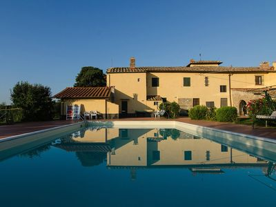 Photo for Ancient house in Chianti near Florence: swimming pool, every comfort, among olive trees and vineyards