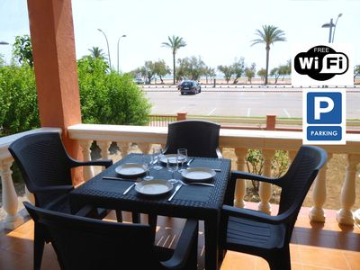 Photo for Apart-Rent-Apartment in front of the beach with wifi (0015)
