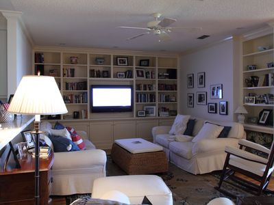 "Living Area with 46"" TV"