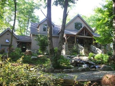 Photo for Luxury Island Home in Mountain Lake - Boat included in rent