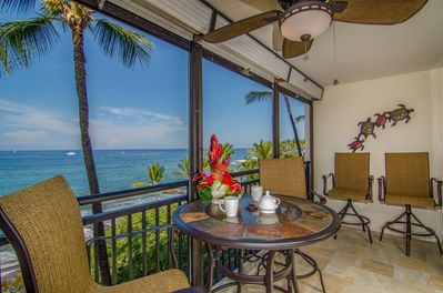 Wake up to a cup of 100% Kona coffee and enjoy it on the lanai!