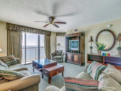 Photo for Crescent Shores 801, 4 Bedroom Beachfront Condo, Hot Tub and Free Wi-Fi!