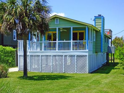 Photo for The Perfect Beach Cottage! Pet Friendly, dock, rooftop deck!