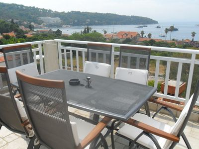 Photo for Attractive island apartment, private balcony with sea view over whole island