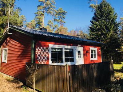 Photo for Beautiful cottage in forest on the beach in Ystad