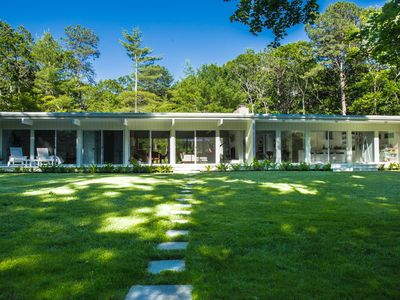 Photo for East Hampton Modern Home on Private 3-acre property with pool and tennis court