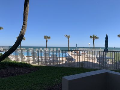 Photo for BEACHFRONT-PRIVATE OCEAN VIEW PATIO!!  8/15-8/29 $2030 Tax Included