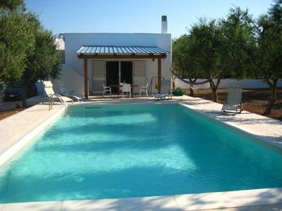 Photo for House with private pool in olive grove 3 km from the sea of Torre Guaceto and 12 km from Ostuni
