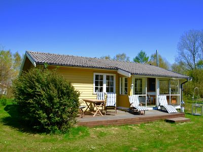 Photo for TOP holiday home at Laholm / Mellbystrand with sun terrace, fireplace + conservatory