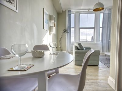 Photo for Seaspray is a beautiful apartment located right on the seafront in Hastings