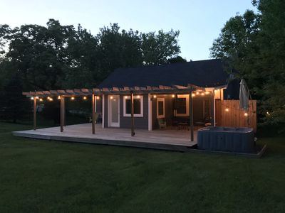 Photo for Newly Renovated, Comfortable Cottage with Year-Round Hot Tub Overlooking 4 Acres