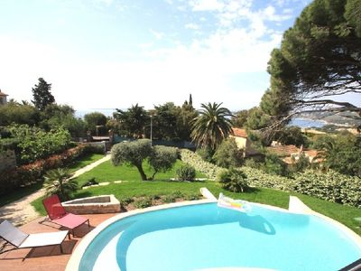 Photo for MODERN VILLA, 6 PEOPLE, AIR CONDITIONING, POOL, SEA VIEW, QUIET AREA