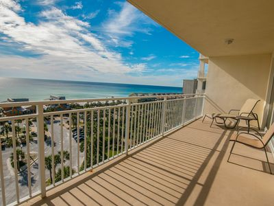 Photo for Waterfront condominium shared fitness center pool & grills - furnished balcony!