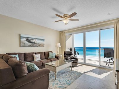 Photo for Large 2BDR Beach Front,  Free Beach Service, covered parking