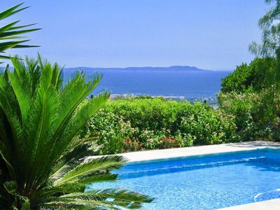 Photo for High end estate with superb sea view, heated swimming pool, tennis, jacuzzi