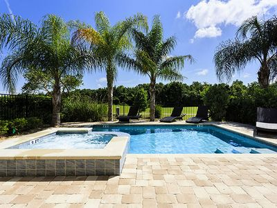 Photo for ⚜Modern Oasis!⚜ Luxury 5 Bedroom Home Steps to Disney📍