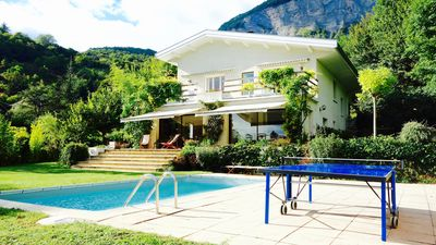 Photo for Superb privatized home, exceptional views of the Alps!