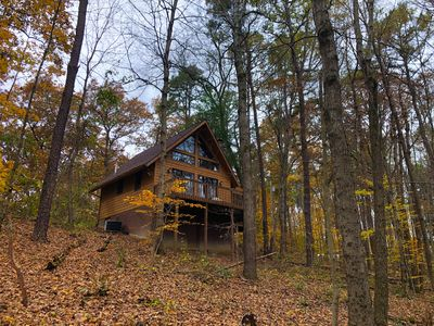 Photo for Elk - Hocking Hills: 2  BR, 1  BA Cabin / Bungalow in Logan, Sleeps 4