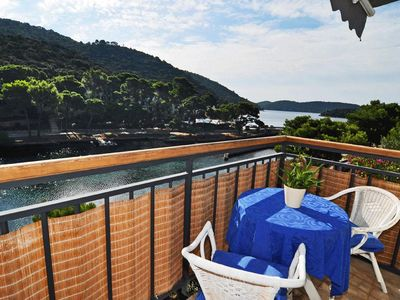 Photo for Studio flat with balcony and sea view Pasadur, Lastovo (AS-8351-a)