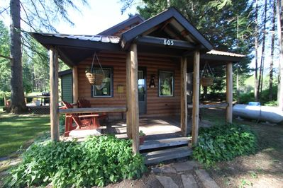 Spotted Bear cabin, with 3br/2ba is one of seven cabins on the ranch.