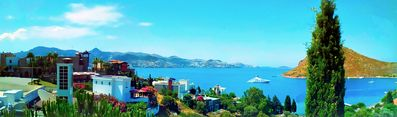 Stunning Views Of The Sea, Bays, Islands And Shoreline From Villa's Roof Terrace
