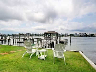 Photo for Channel - 4 bedroom duplex with boat slip and dock, sleeps 8