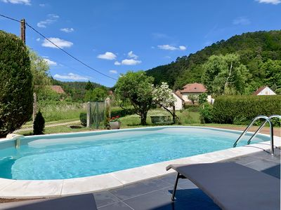 Photo for Comfortable cottage, quiet and independent with swimming pool in the heart of the Northern Vosges