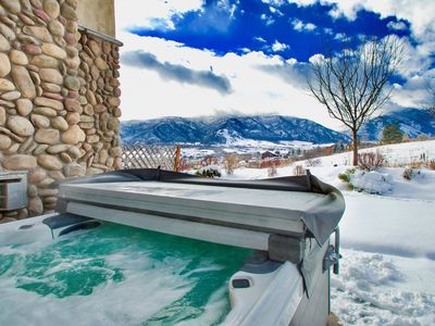Photo for 5 Bedroom 5 Baths, Private HOT TUB, Garage, Home Theater,  Private Corner unit