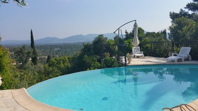 Photo for amazing view, private pool , phone,wifi ,english sat , quiet