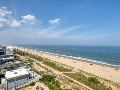 Photo for Ocean view family condo w/shared pools, tennis, gym & game room - steps to beach