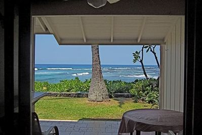 Step through the sliding doors onto lanai and this is all yours!