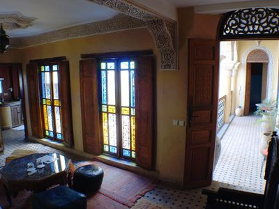 Photo for Suite 2/3 Pax, Riad Layalina Fez: Pool, 360° View & Free Secure Parking at Foot