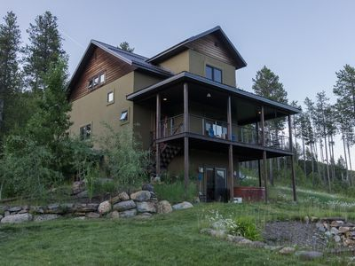 Photo for Modern Home w/Stunning Mountain Views, lake access, hot tub & more