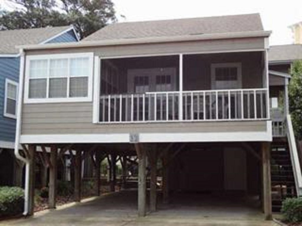 arbor house #12, myrtle beach: two-story house on stilts--shore