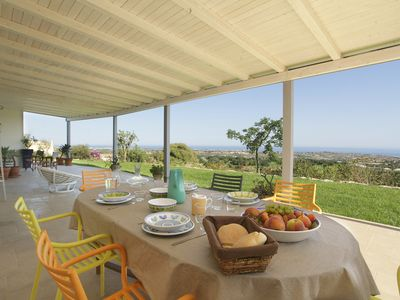 Photo for Charming house with stunning sea views over the bay of Sampieri, Sicily 6 people