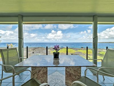 Photo for Big Island Oceanfront Home - Great Whale Watching!