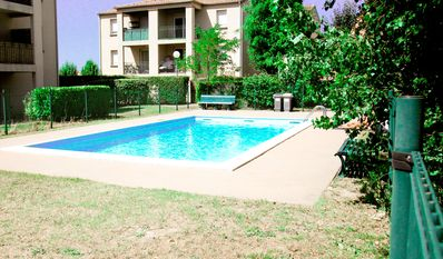 Photo for SWIMMING POOL, GARDEN, PARKING, 3 bed, 700m quoted, PC / WIFI